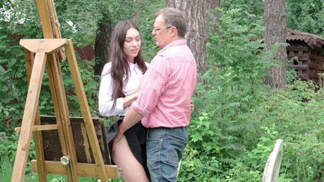 Arwen Gold Enjoys To Penetrate Her Elder Professors