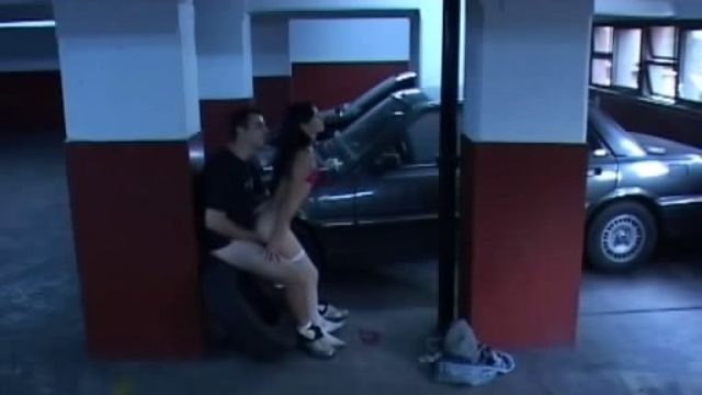 Dark-haired Girl In Milky Stocking Popped Within The Storage!
