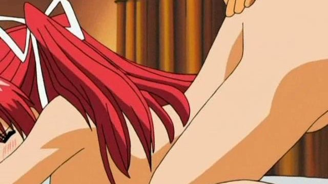 Flamy Redheaded Huge-chested Anime Lady Will Get Cooch Drilled Doggie