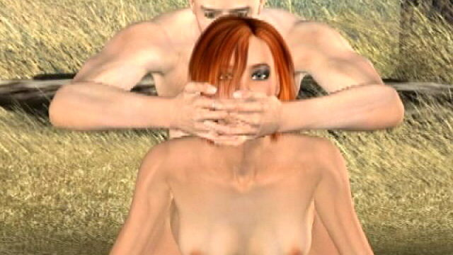 Sinfully Red-haired 3-d Gf Tammy Will Get Pummeled Doggystyle Outdoor
