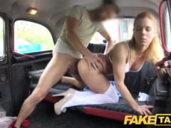 Faux Cab Nurse In Sumptuous Underwear Has Automotive Fuck-a-thon