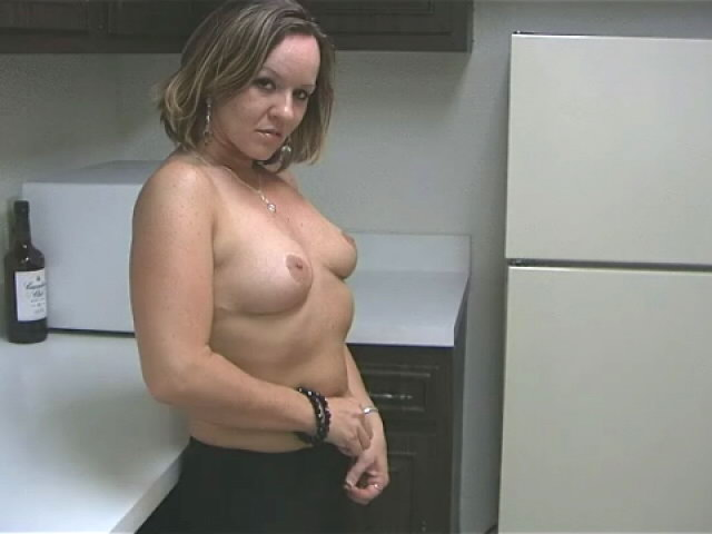 Sensuous Ash-blonde Wifey Tessa Kneading Her Splendid Figure With Enthusiasm Within The Kitchen