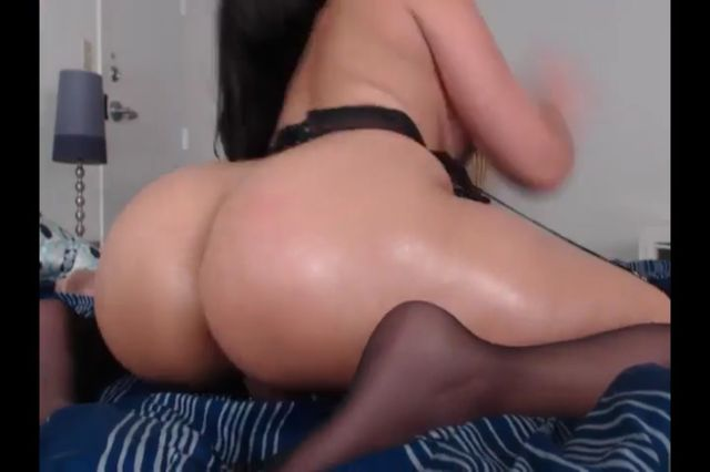 Fucky-fucky Bomb Black-haired In Stocking Jerk Anal Invasion Web Cam Showcase