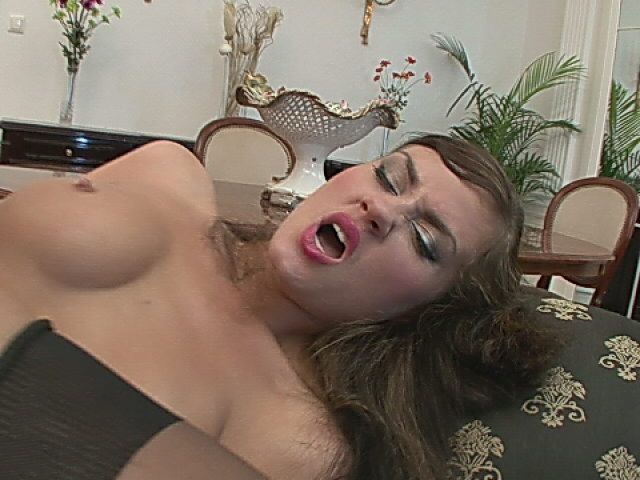 Stockinged Honey Getting Cock-squeezing Pooper Plowed By Way Of A Phat Impaler At The Sofa