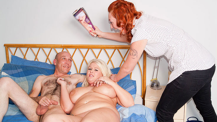 Humungous Blondie Does Draining Fellow