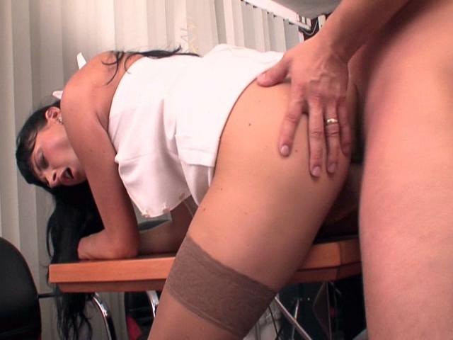 Fetching Administrative Center Stunner Jessica Sanchez Getting Smooth Cooter Smashed Rear End At The Table
