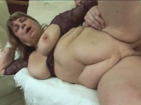 Ginormous Grandmother Deepthroating Trunk And Getting Laid