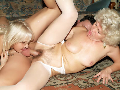 Super Hot Grandmothers In Lingeries Three-way
