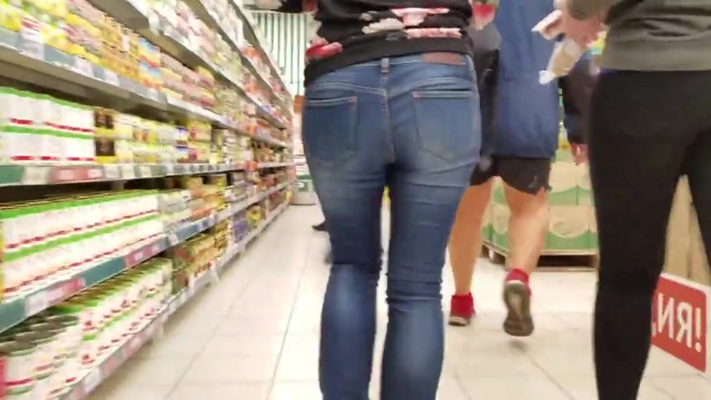 Lovely Butt In Grocery Store
